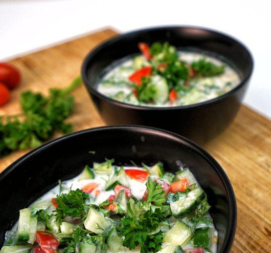 Kefir cucumber soup – a summerlike refreshing kefir recipe