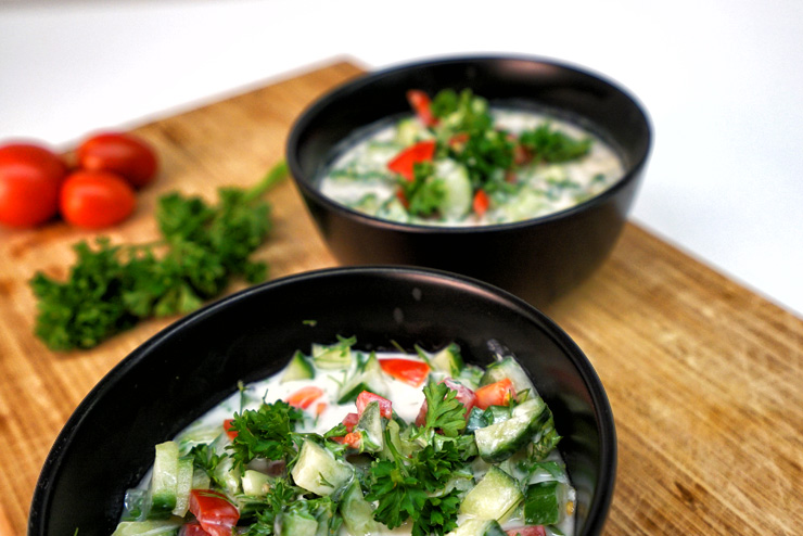Kefir Gurken Suppe - Ein sommerlich erfrischendes Kefir Rezept