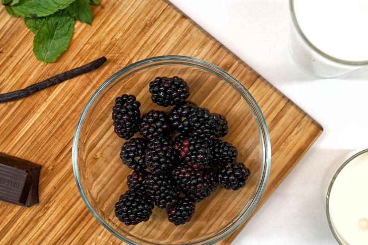 Kefir Stracciatella Cream – Vanilla meets Organic Kefir, Blackberries and Chocolate - The Blackberries