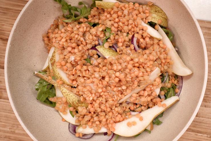 Rucola Salat mit Kefir und Linsen - ein toller Salat zum Grillen - das Finale