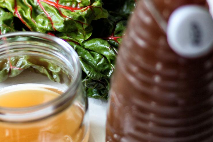 Aloe Vera Kombucha mit Mangold und Spinat - ein toller Smoothie für heiße Tage - Die Zutaten