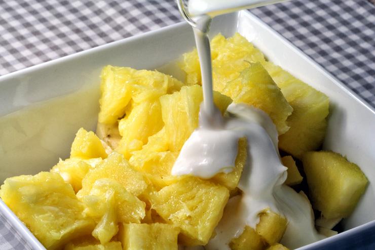 Kefir Bananen Ananas Dessert - ein selbstgemachter Traum mit Milchkefir - Die Ananas
