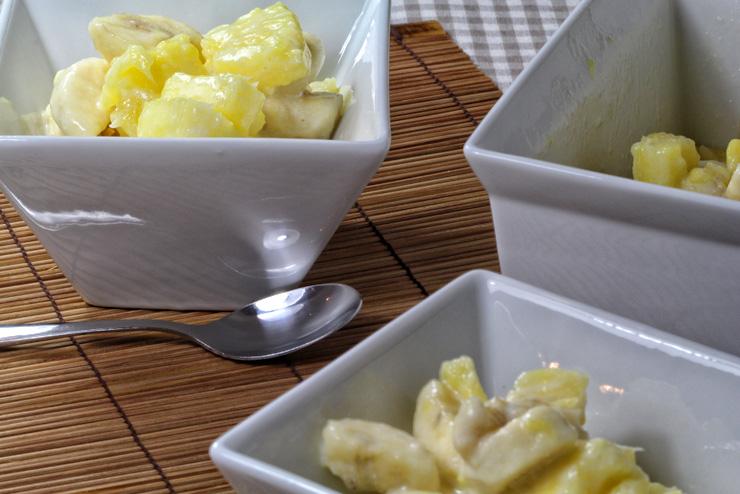 Kefir Bananen Ananas Dessert - ein selbstgemachter Traum mit Milchkefir