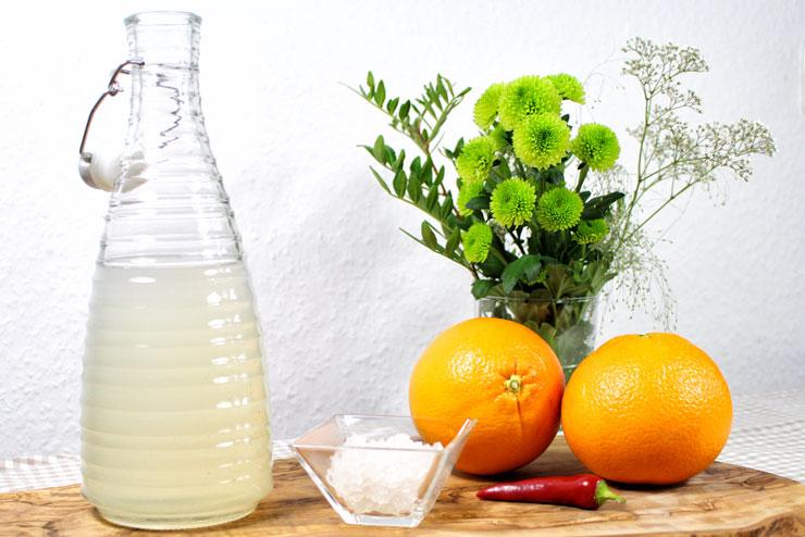 Hot Orange Kefir Drink mit Chili und Orange - ein lecker würziges Getränk für alle die es schärfer mögen - Die Zutaten