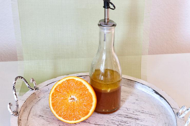 Kombucha Salat Dressing – ein fruchtig, würziges Dressing aus Orange und Kombucha - Hauptbild