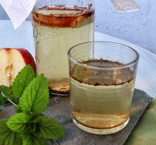Apfel Zimt Kombucha - ein herbstliches Kombucha Rezept- Kombucha Getränk