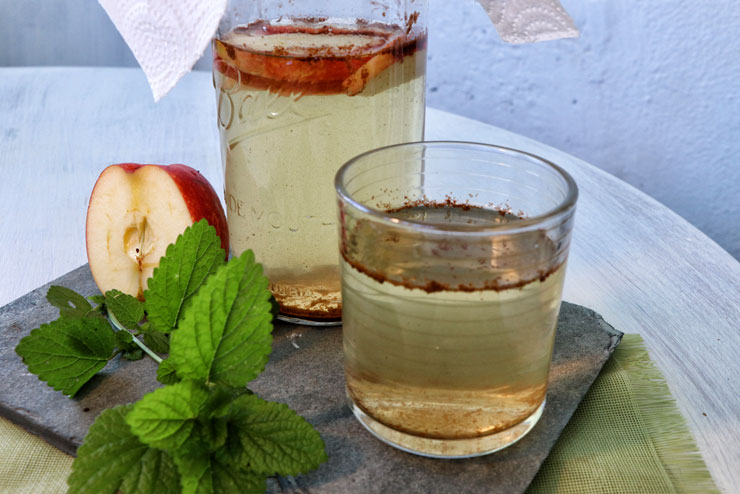 Apple cinnamon kombucha - a tasty kombucha autumn Drink recipe - kombucha drink