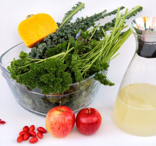 Kale kefir smoothie – a green wonder for grey winter days - ingredients