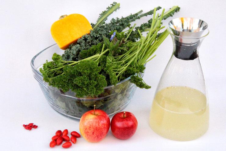Kale kefir smoothie – a green wonder for grey winter days - ingredients