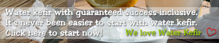 Just click here to buy our tasty and fresh Water Kefir and make it at home easy and quick