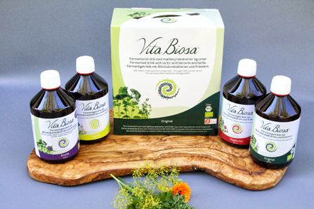 Vita Biosa fermented drinks with lactic acid bacteria and herbs