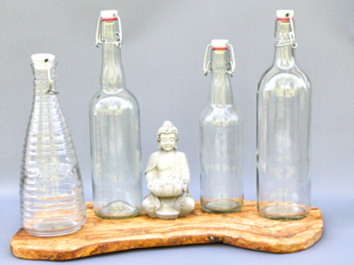 Glasses and bottles for making milk kefir, water kefir, kombucha and much more