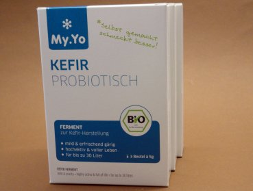 My.Yo organic kefir culture | probiotic | 3x 5g - ferment for up to 15 litre milk kefir