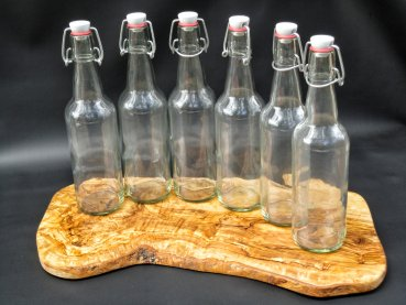 6 High quality glass bottles with swing top - 500ml for water kefir and kombucha