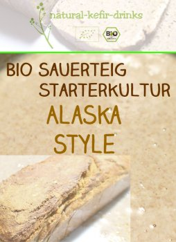 500g raw [ALASKA Style] organic natural sourdough | Anstellgut | Starter culture
