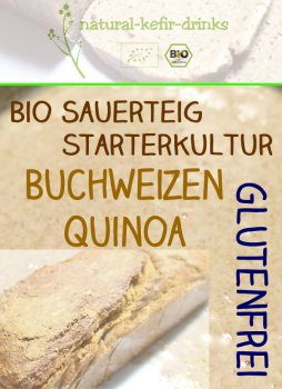 500g raw [GLUTEN FREE - Buckwheat ] organic natural sourdough | Anstellgut | Starter culture