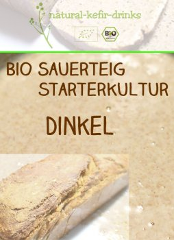 500g raw organic natural sourdough | Anstellgut | Starter culture | Dough (wild fermentation)