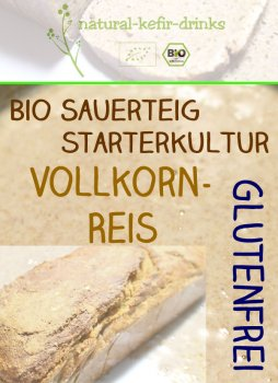 500g raw [GLUTEN FREE - brown rice] organic natural sourdough | Fermentation- / Starter culture