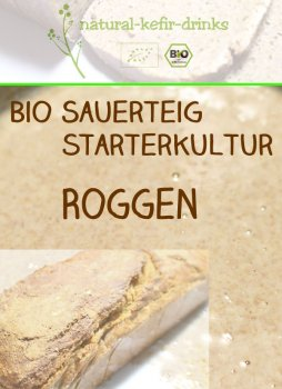 500g raw [RYE] organic natural sourdough | Anstellgut | Starter culture | Dough (wild fermentation)