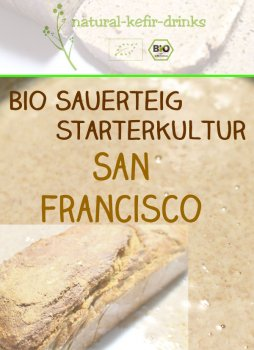 500g raw [SAN FRANCISCO Style] organic natural sourdough | Anstellgut | Starter culture