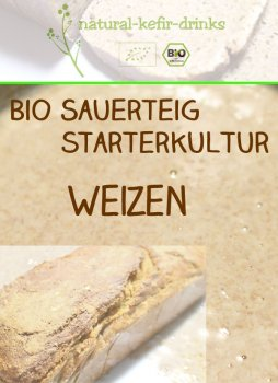 500g raw [WHEAT] organic natural sourdough | Anstellgut | Starter culture | Dough (wild fermentation)