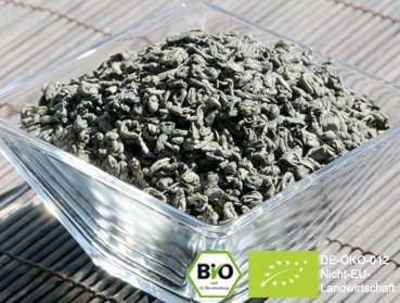250g Organic China Gunpowder - a selected green tea with fine leaves and pleasant tarte flavour