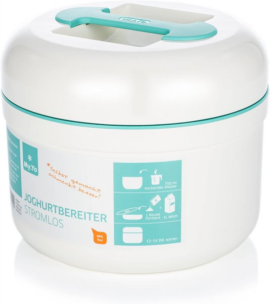 Would you like to make your own probiotic yoghurt / natural yoghurt and milk kefir at home. Here you can buy yoghurt maker / yoghurt mashine